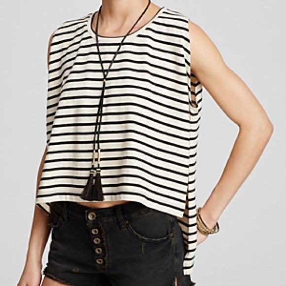 Free People Tops - Free People Madness Stripe Muscle Tank We The Free
